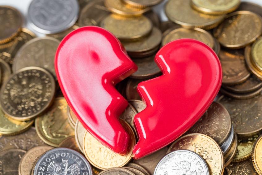 scheiding geld erfenis schuld huwelijkse voorwaarden alimentatie